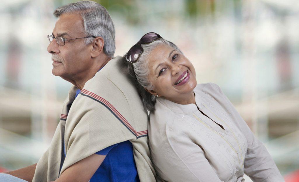elderly happy couple