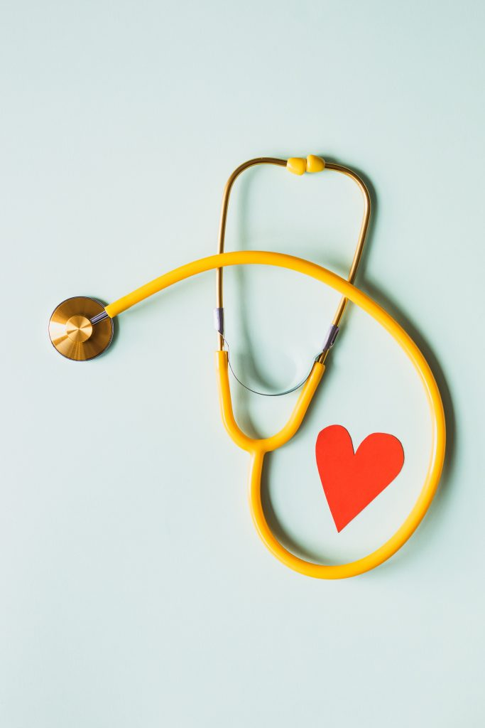 Stethoscope and a heart image for blog