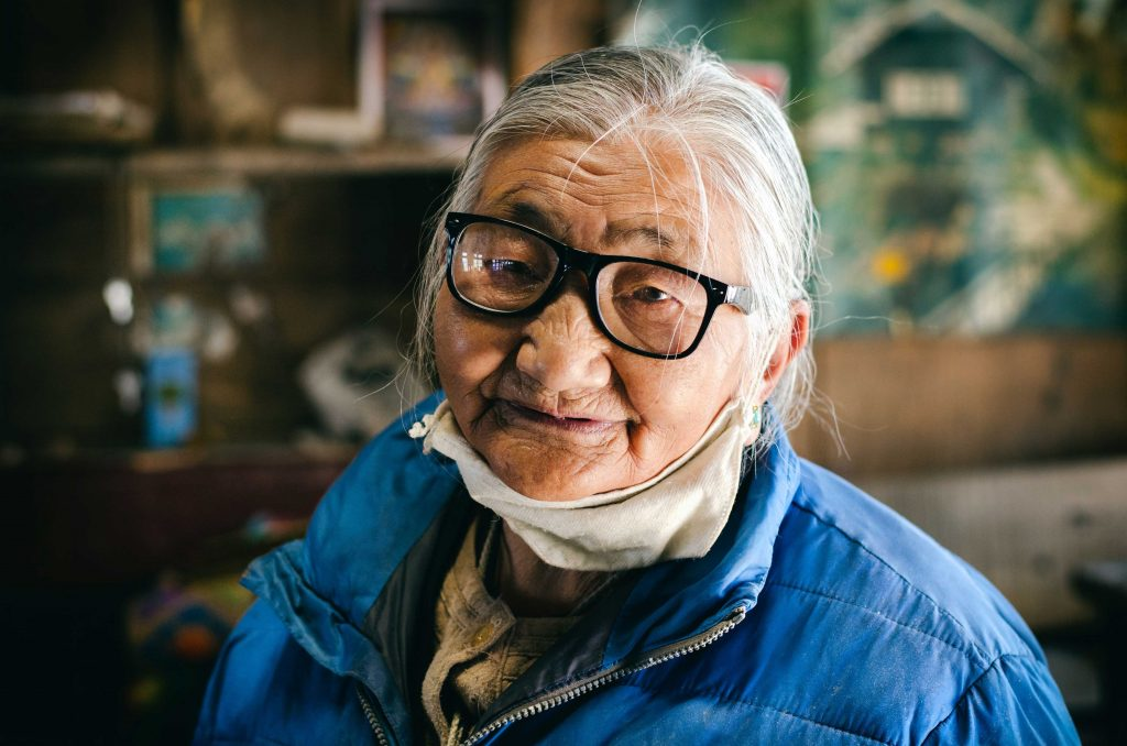Old Lady with spectacles
